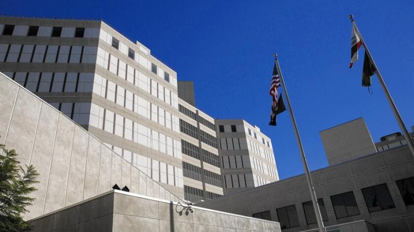 La cárcel del condado de Los Ángeles, conocida como las torres gemelas.