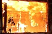 Large fully engulfed garage fire