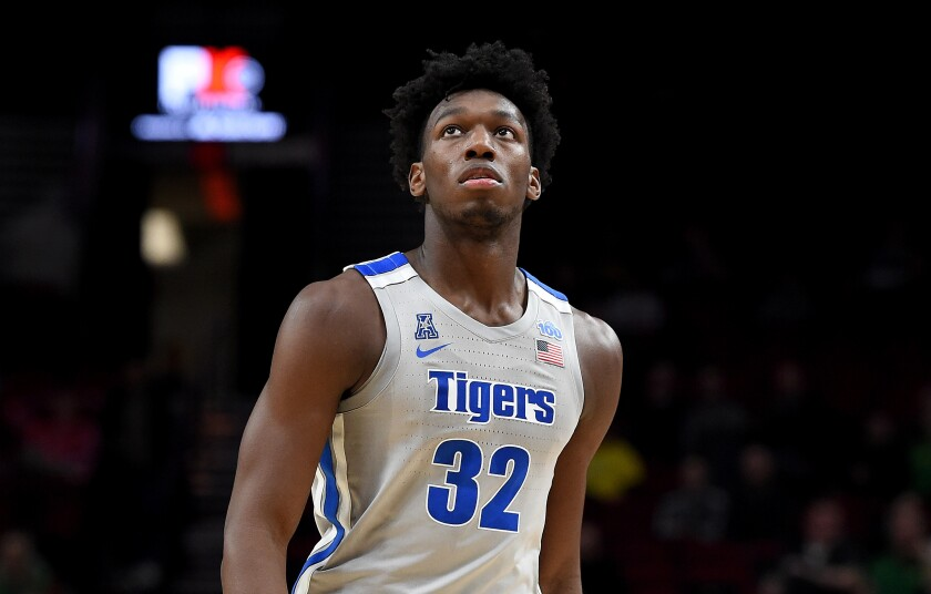 Memphis center James Wiseman played only three games for the Tigers before being suspended by the NCAA.