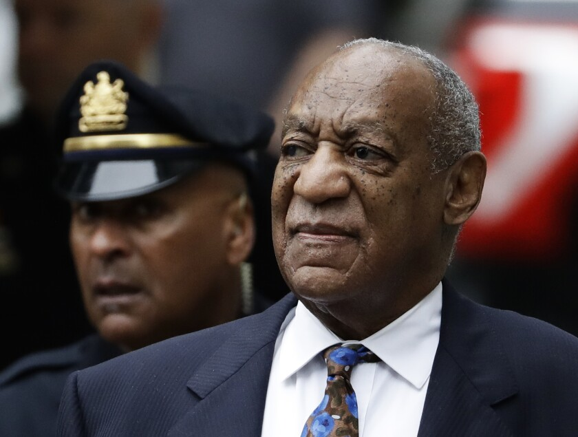 Bill Cosby arrives for his sentencing hearing at the Montgomery County Courthouse in Norristown, Pa., last year.