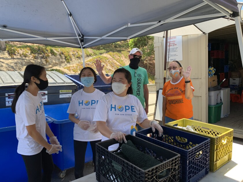 Volunteers from Hope for San Diego helped out at the CRC shop.