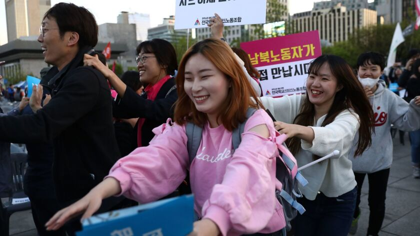 South Koreans Rally To Support Forthcoming Inter-Korean Summit In Seoul