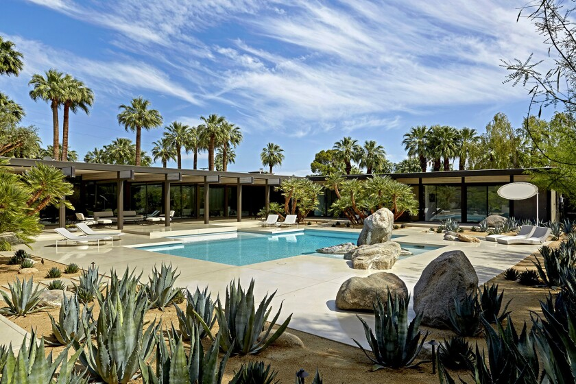 Originally built by Buff and Hensman, the estate recently traded hands for $9 million – the second priciest home sale in Palm Springs history.