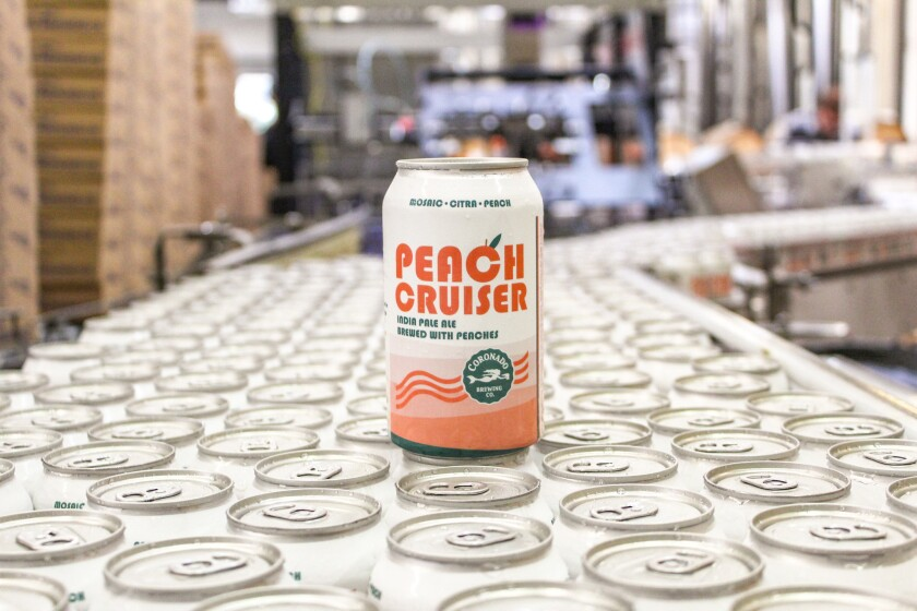 Peach Cruiser is available in retailers and at Coronado Brewing locations.