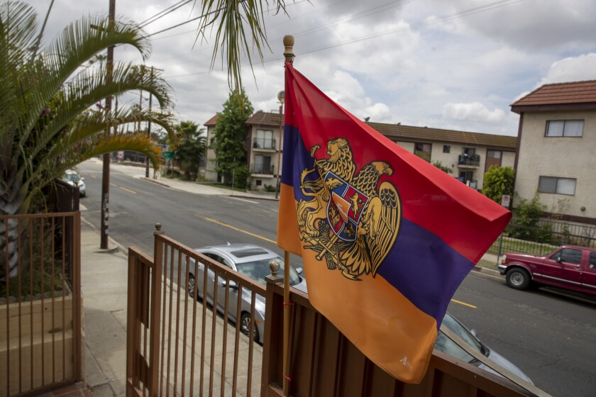 An Armenian flag