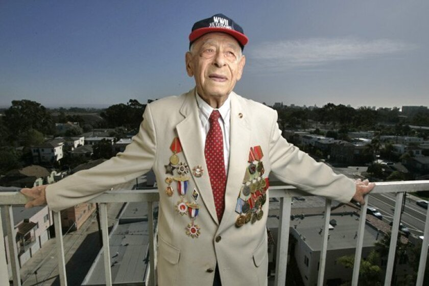 Mikhail Sobko, 90, a Ukrainian Jew who now lives in San Diego, fought against the Nazis as an interrogator with Soviet forces.