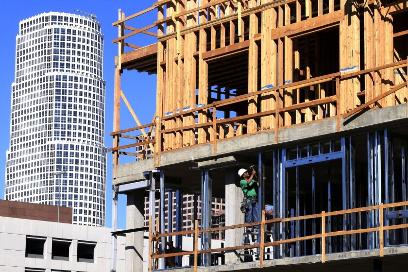 Housing starts grew 6.3% in September, driven by a surge in apartment building.