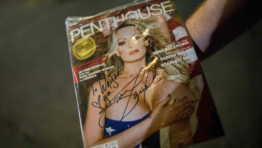 A recent issue of Penthouse magazine featured porn star Stormy Daniels on the cover.
