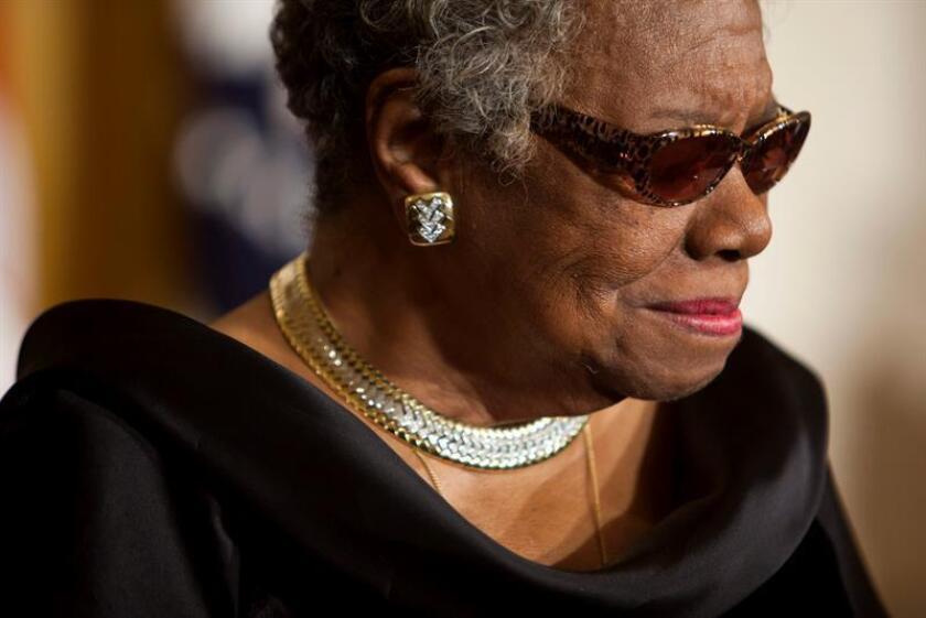 La poetisa estadounidense Maya Angelou. EFE/Archivo