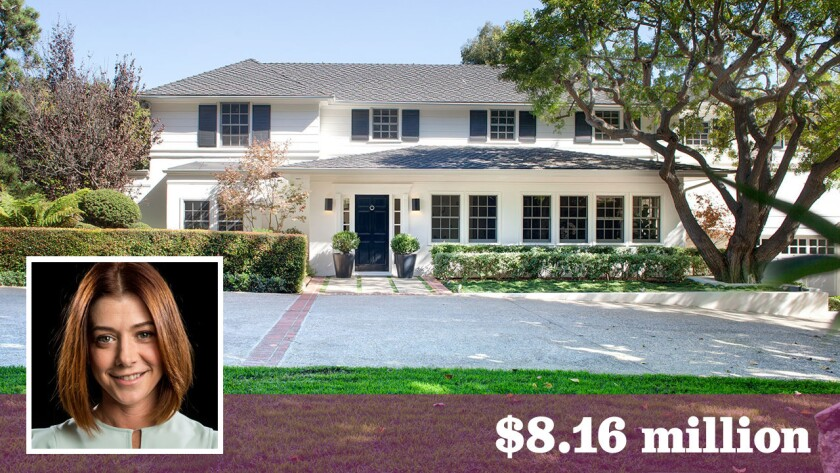 Actors Alyson Hannigan and Alexis Denisof have sold their home in Brentwood for about $8.16 million.