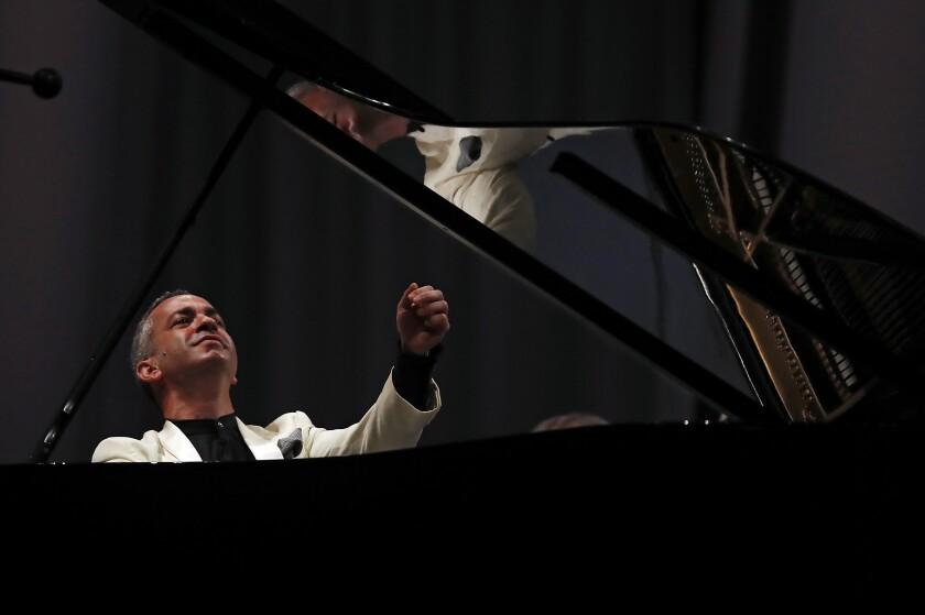 Pianist Inon Barnatan performing Thursday at the Hollywood Bowl.