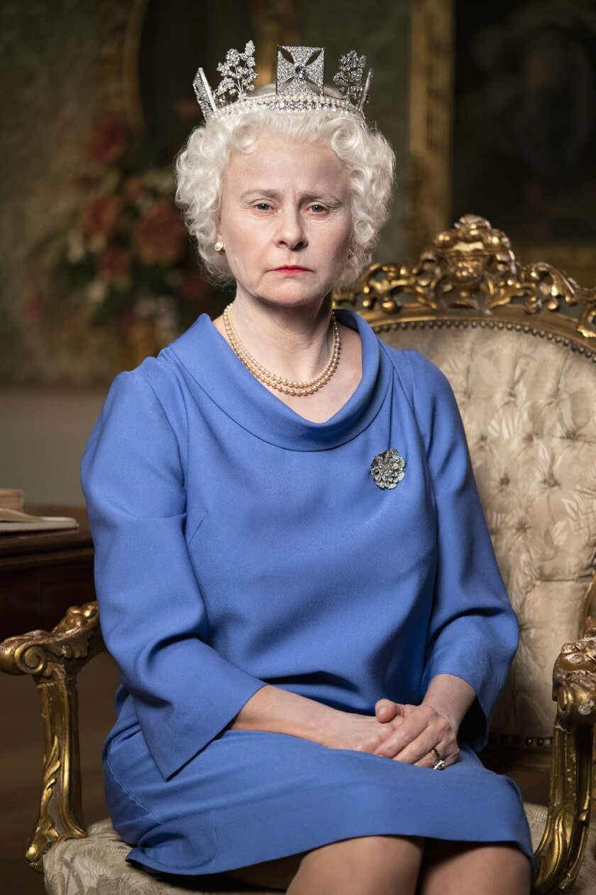 "Tracey Ullman as Queen Elizabeth II in ""Death to 2020."""