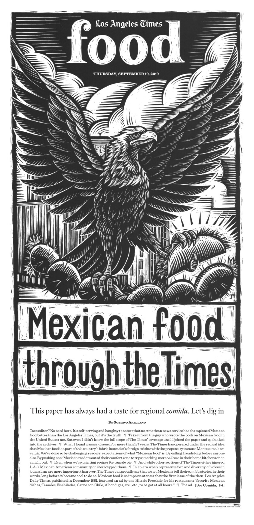 Los Angeles Times Food cover, September 19, 2019