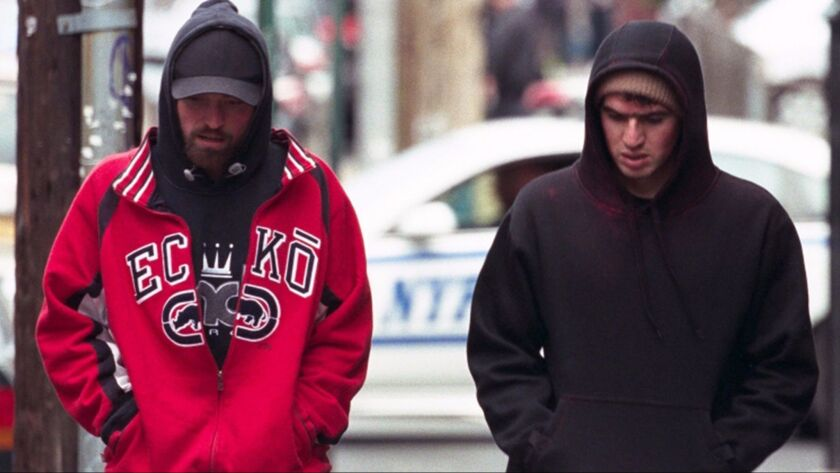 """Robert Pattinson as Connie Nikas and Ben Safdie as Nick Nikas in the film """"Good Time."""" Credit: Canne"""