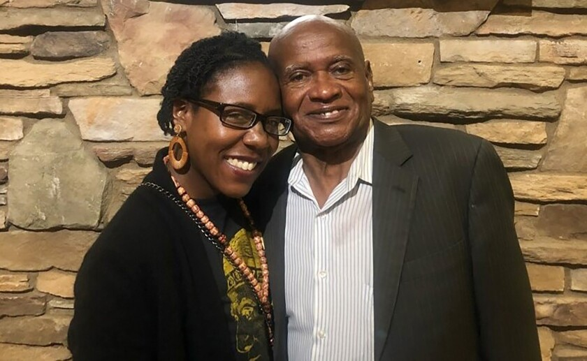 Community leader Willie Blair and his daughter Deborah Smith.
