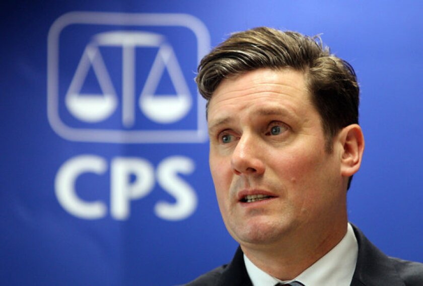Keir Starmer, chief prosecutor for England and Wales.