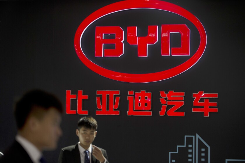 BYD auto company at Beijing International Automotive Exhibition