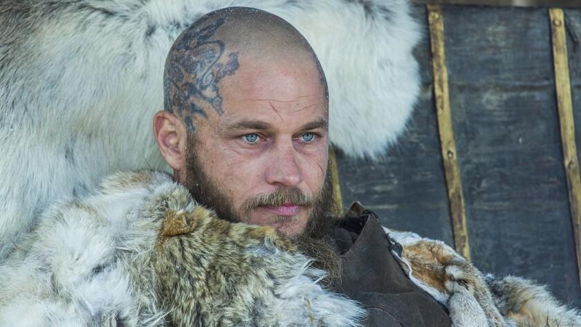 """Travis Fimmel in """"Vikings"""" on History."""