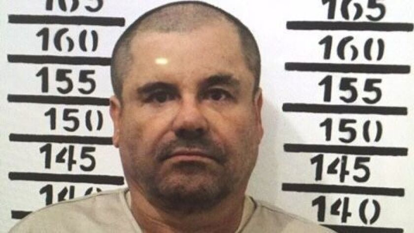"""Drug kingpin Joaquin """"El Chapo"""" Guzman in January 2016 in Almoloya, Mexico. The prosecution rested on Monday in his trial being held in federal court in New York."""