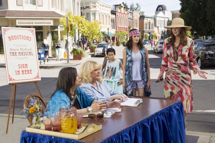 "The ""Gilmore Girls"" gang in action."