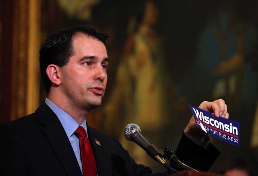 Scott Walker, gobernador republicano de Wisconsin.