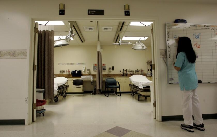 A ward in a hospital.