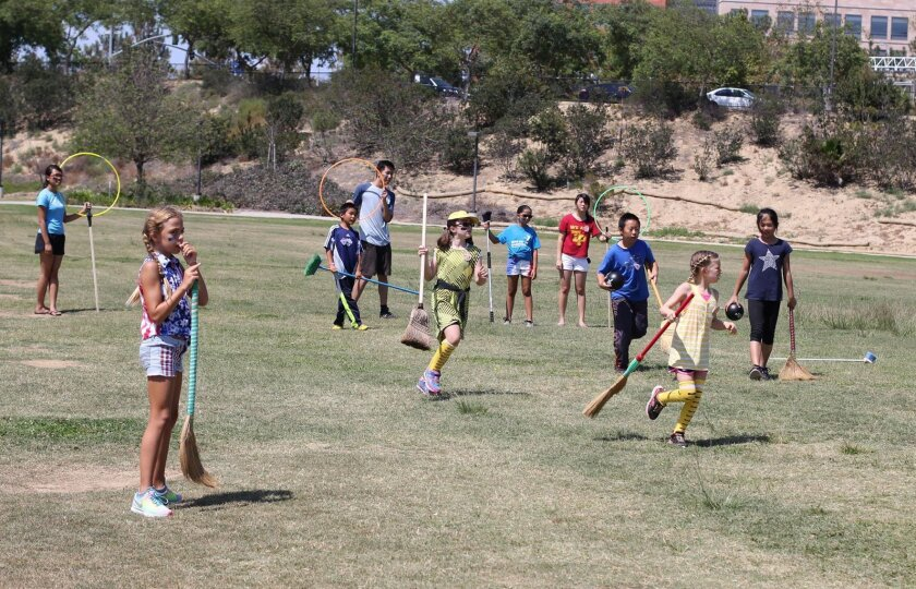 Campers enjoy themselves at the Harry Potter camp. Courtesy photo
