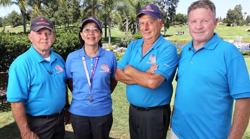 Treasurer Ed Berger, Secretary Moon Rash, PVO Golf Tournament Chairman Nick Yorio and PVO President Bill McKibbin.