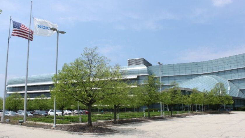 Nokia's Naperville campus is shown in May 2018. This year the Finnish telecommunications company has laid off about 300 people based in the suburb.