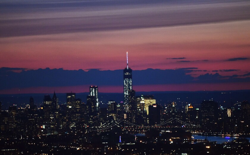Disney is planning to sell radio stations in major markets including New York, pictured, Chicago and Philadelphia.
