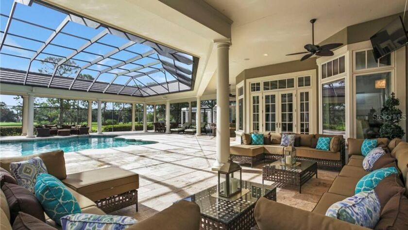 Dodgers exec Joe Crowley sold his Orlando base: a two-story house with abundant outdoor living space.