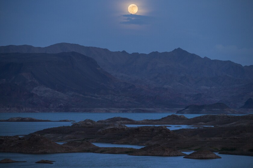 The water level of Lake Mead in Nevada is at an all-time low.