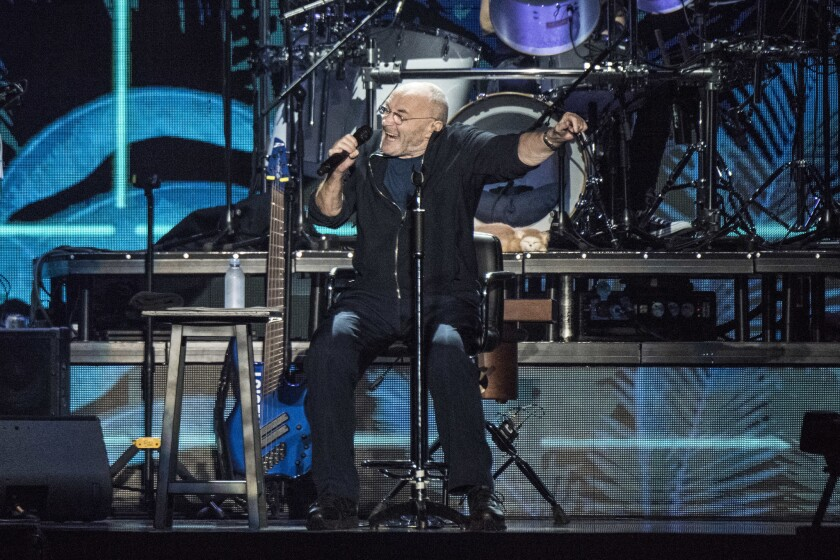 Phil Collins performs Sunday night at the Forum.