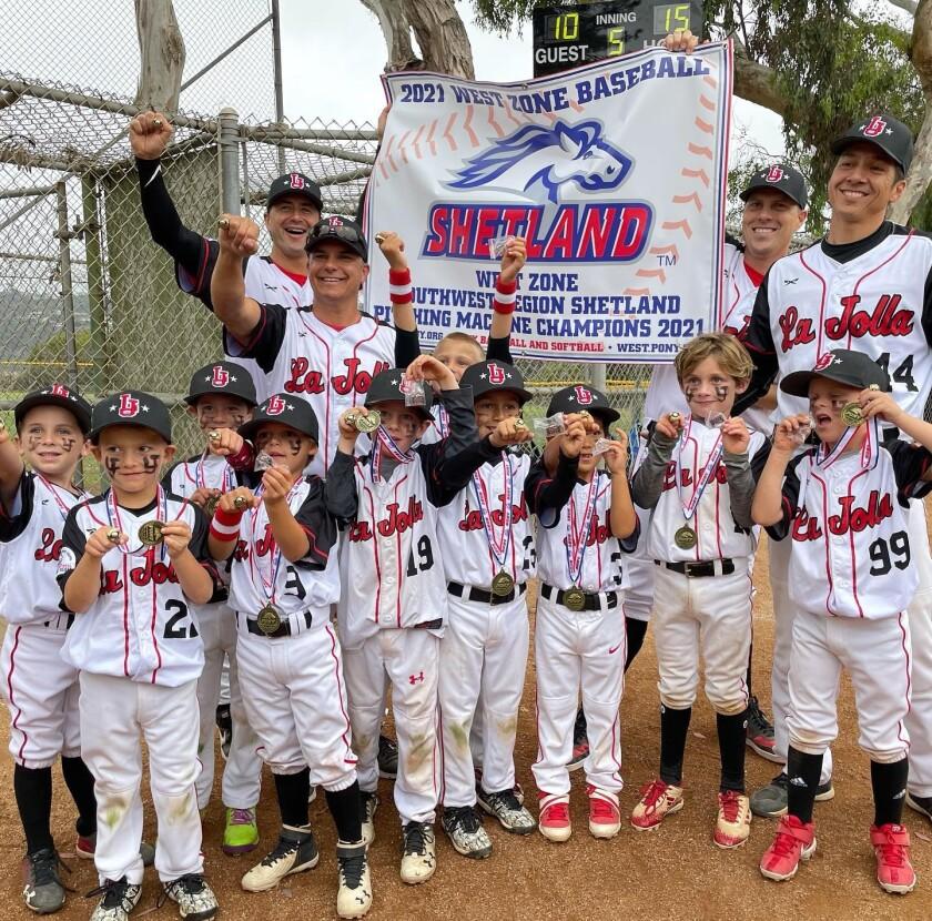 The undefeated, West Zone World Series-bound La Jolla Youth Baseball 6U Shetland All-Stars