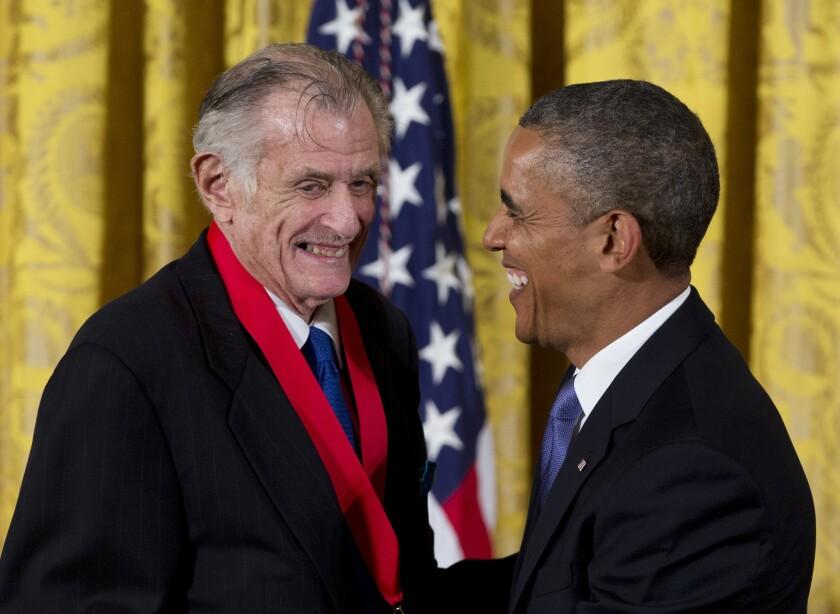 Frank Deford and Barack Obama