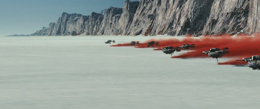 "An image of Crait, a new planet, in ""Star Wars: The Last Jedi."""