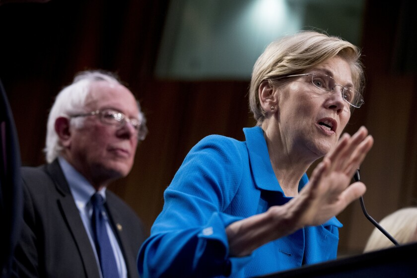 Sens. Bernie Sanders and Elizabeth Warren
