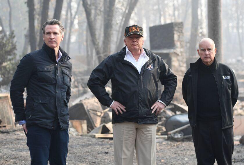 California fires: Trump, Brown, Newsom survey the Paradise devastation, Nov. 17, 2018.