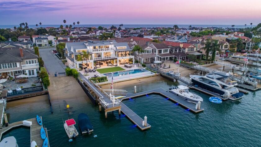 Homes in Newport Beach.