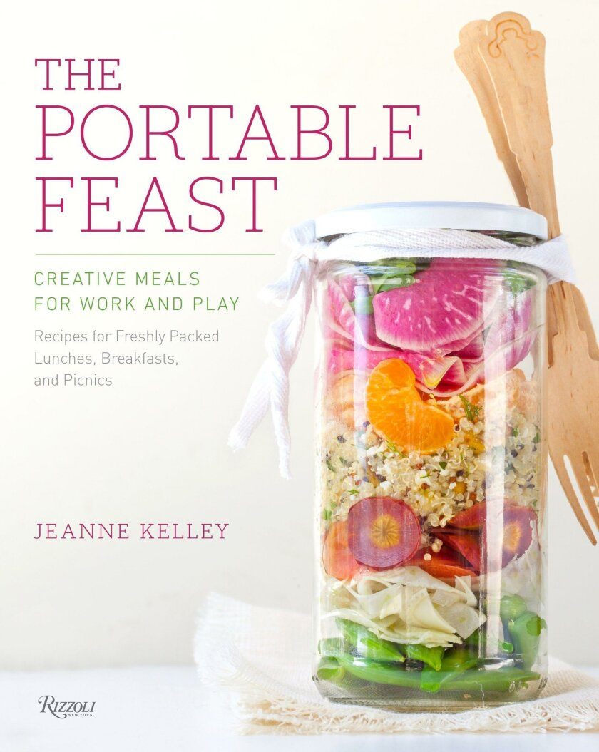 """The cover of """"The Portable Feast"""" cookbook."""