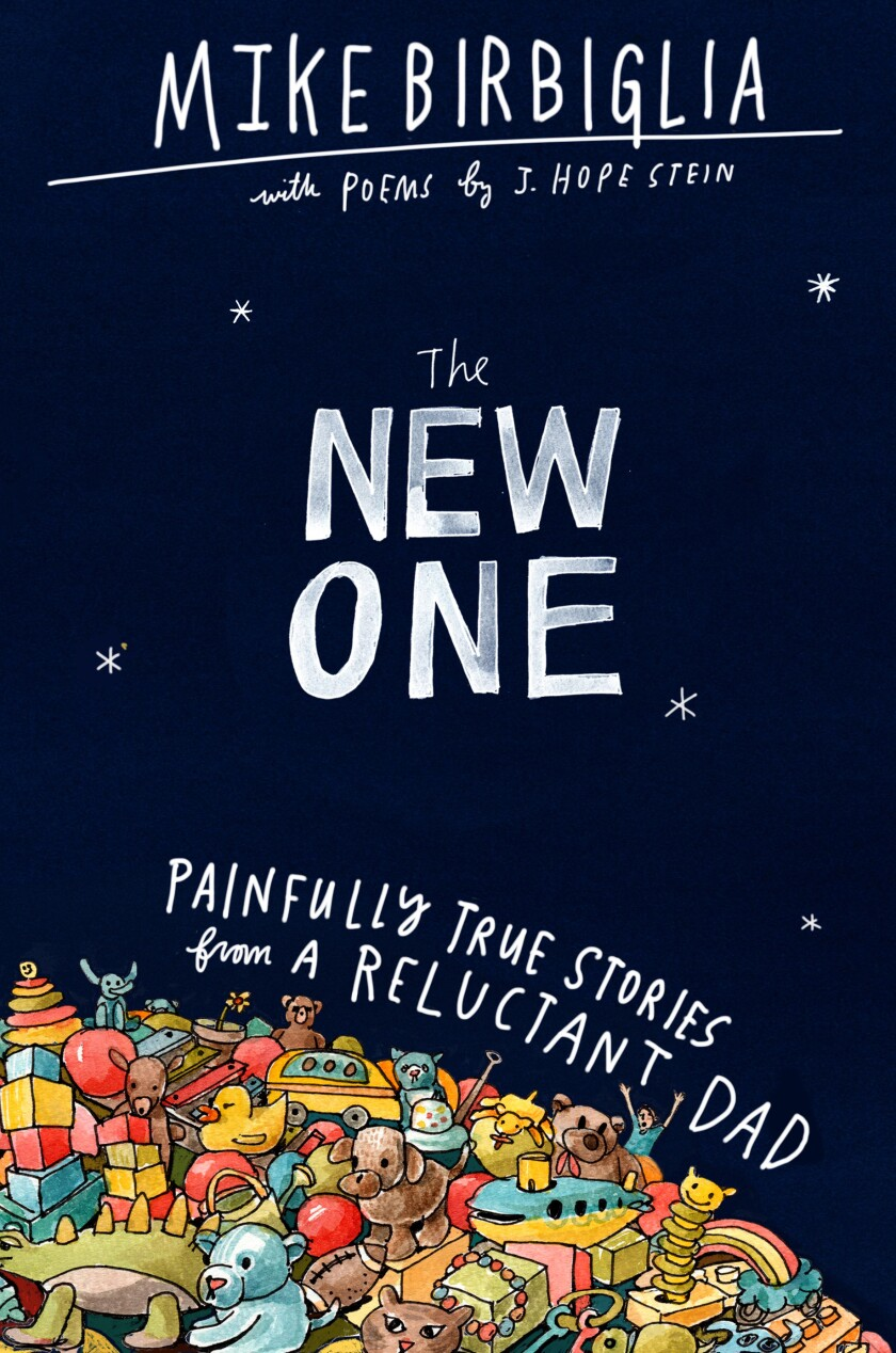 "A book jacket for Mike Birbiglia and J. Hope Stein's ""The New One."""