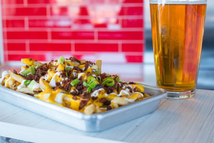 After a full day of shopping, reward yourself in a big way, with the loaded baked potato fries from Funky Fries and Burgers at Westfield Plaza Bonita.