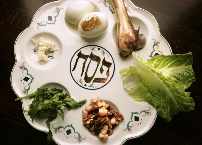 This is a traditional seder plate typically used by Jewish people to celebrate Passover. This year, the coronavirus pandemic is forcing gatherings to be smaller and even virtual, but the celebrations will continue.