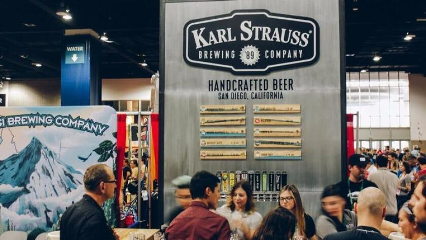 The Karl Strauss booth at last weekend's Great American Beer Festival in Denver. (Courtesy Karl Strauss Brewing Co.)