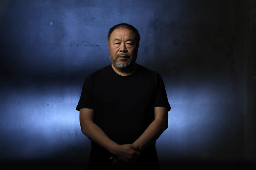 Chinese artist Ai Weiwei in Los Angeles in September 2018.