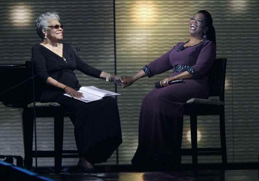 Maya Angelou, Oprah Winfrey