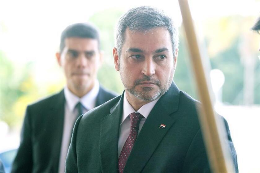 El presidente electo de la República del Paraguay, Mario Abdo Benítez, se reunió hoy en Nueva York con fondos de inversiones y grupos financieros con el objetivo de atraer inversiones a su país. EFE/ARCHIVO