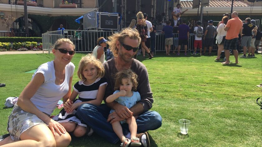 For the second year in a row, the Lane family drove to the KAABOO Del Mar festival from their home i