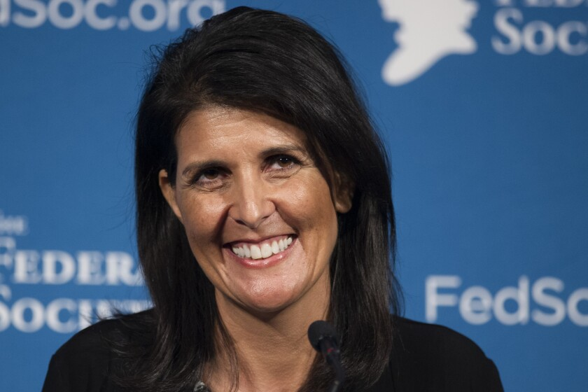 South Carolina Gov. Nikki Haley was critical of Donald Trump during the campaign but mended relations and supported him during the general election.