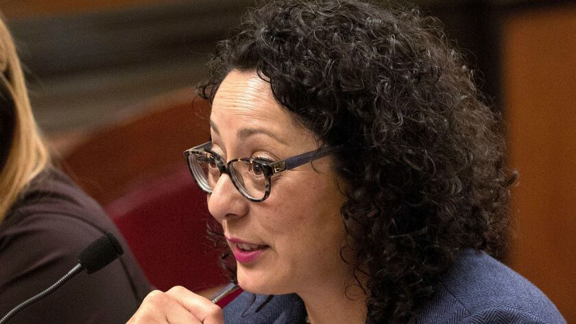 Assemblywoman Cristina Garcia (D-Bell Gardens) speaks at the state Capitol in Sacramento in 2016.
